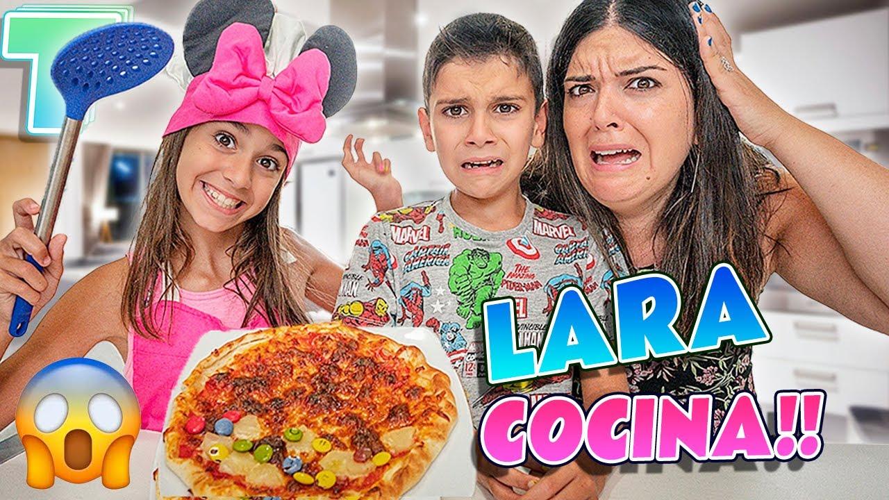 ¡¡LARA COCINA HOY!! 🤢 ¿Podremos comer su Pizza?