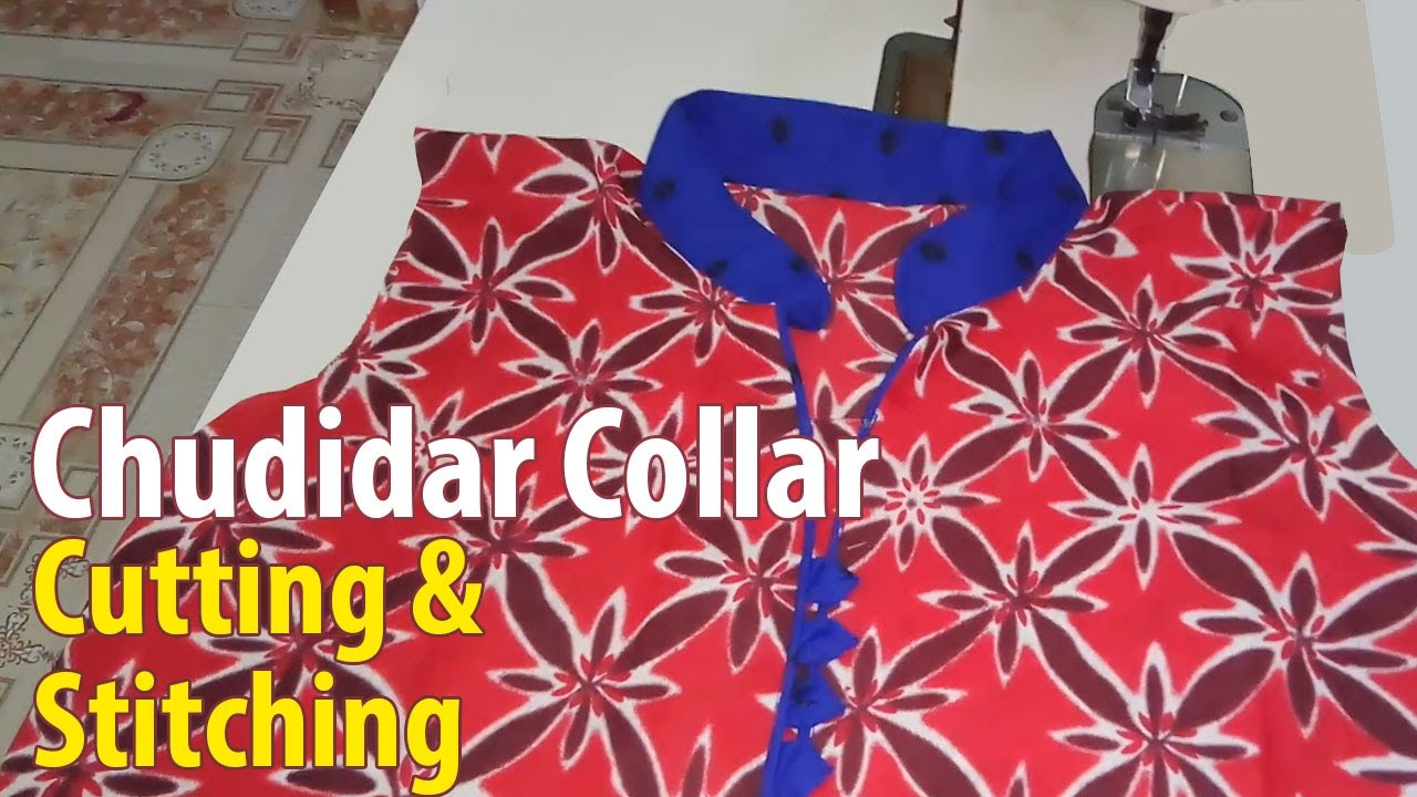 Chudidar collar neck cutting and stitching  b380afaac