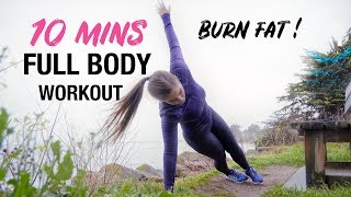 FAT BURNING FULL BODY HIIT WORKOUT No Equipment !