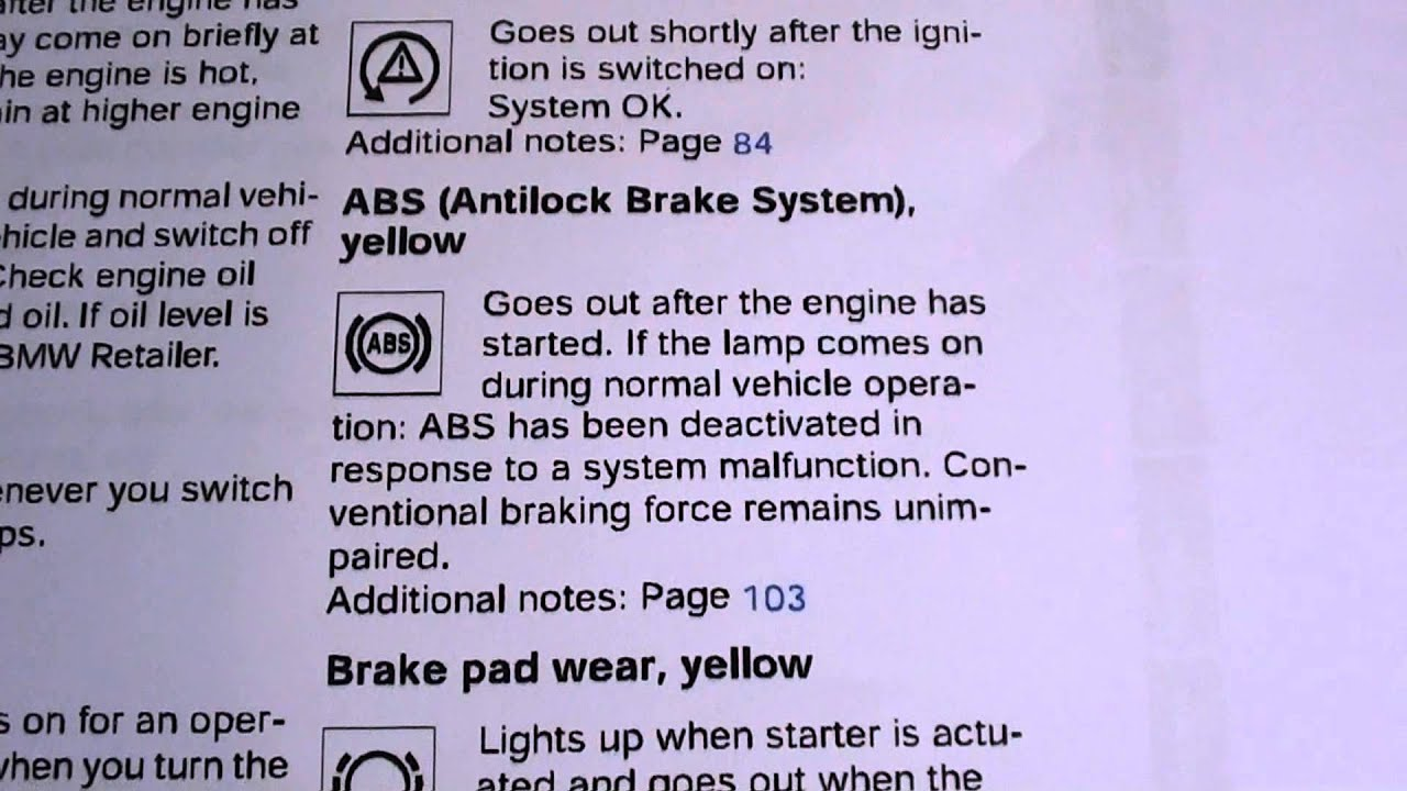 Warning Light On Bmw >> BMW E36 3 Series ABS Light - How To Turn It Off - YouTube