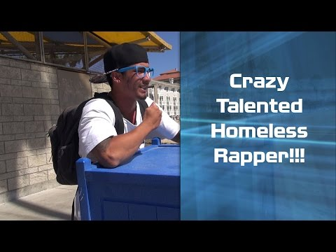 Insanely Talented Homeless Rapper on the Beach!