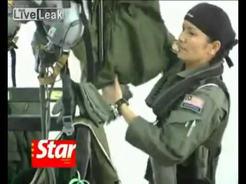 Malaysia's Female MIG Fighterjet Pilot