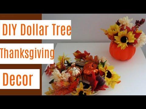 DIY Dollar Tree Thanksgiving Decor for 2019