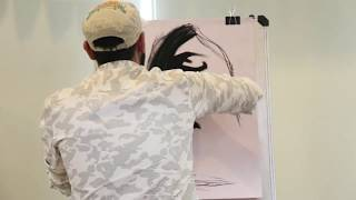 Charcoal Painting | Arpit Vyas | PFA Open Mic Pune | Artist Performing |