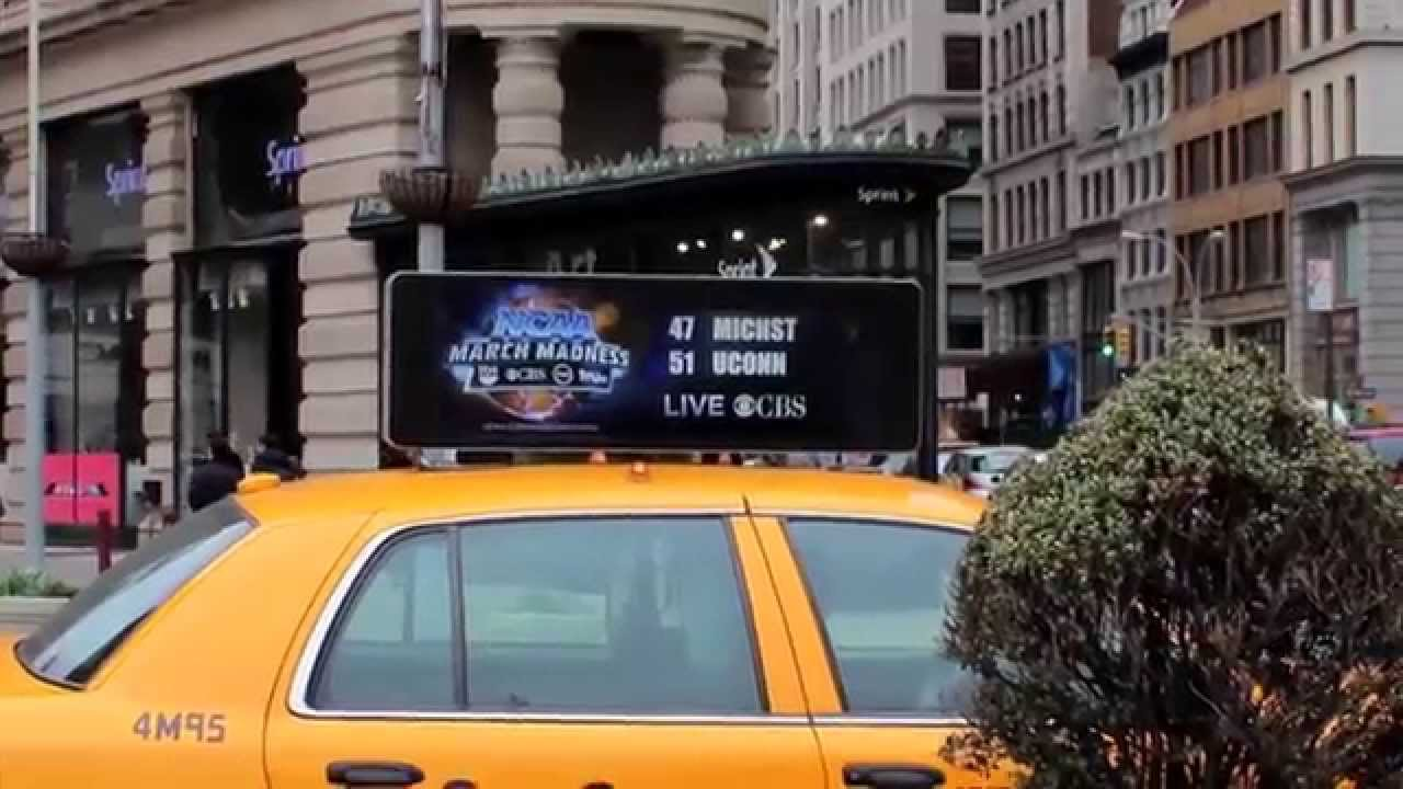 Verifone Digital Taxi Tops in NYC - March Madness