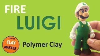 Fire LUIGI MARIO (Super Mario Bros) - Polymer Clay Tutorial