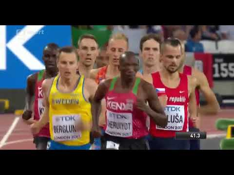JAKUB HOLUŠA WINS 3:38:05 1500m Men SEMI FINAL 2 World Champs London 2017