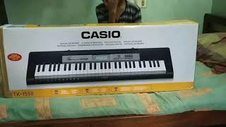 Unboxing and reviewing Casio ctk 1550