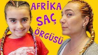 Mira Okulda Çok Rahat ! Afrika Saç Örgüsü Yaptırdık | UmiKids