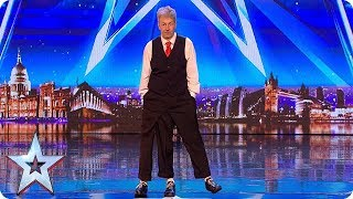 Old School variety act Jon Davison is pulling our legs! | Auditions | BGT 2018