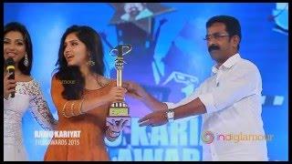 Mammootty, Amala Paul,Miya,Anupama,Gayathri Suresh at Ramu Kariat Film awards 2015 Full video