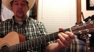 Brooks & Dunn - Neon Moon Intro & Chords in A with Bass Pattern