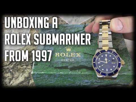 Unboxing A Rolex Sumbariner 16613 From 1997