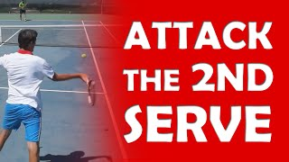 Attack The Second Serve | ATTACKING TENNIS