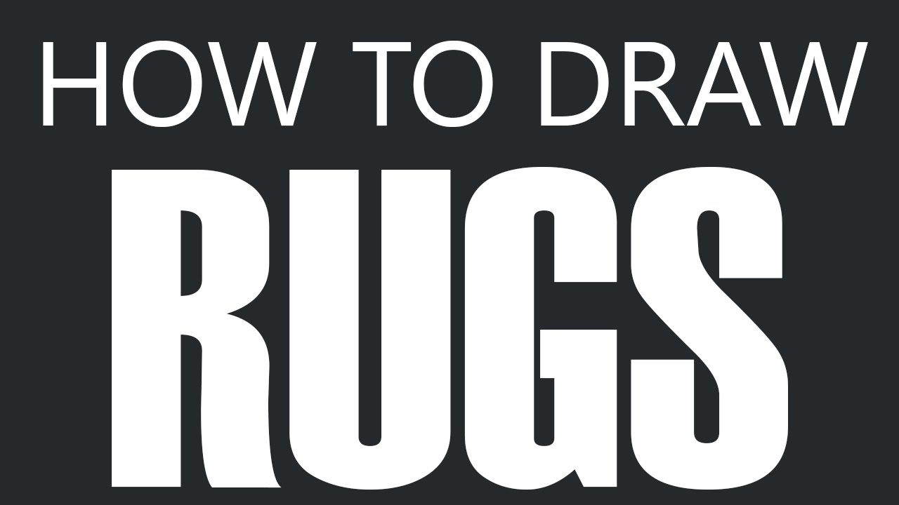 How To Draw A Rug - Frayed Door Mat Carpet Drawing (Floor Rugs)