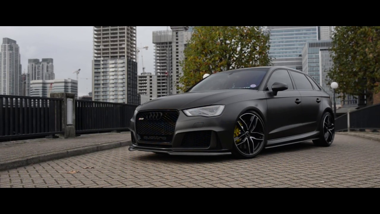 Audi Rs3 Wrapped In Satin Pearl Nero Youtube