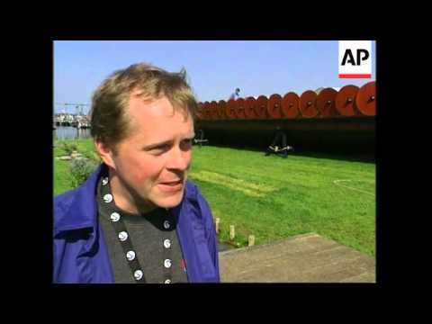 Replica of 1000 yr old Viking ship is launched
