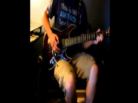 Jamie Lyle playing Armageddon It on guitar