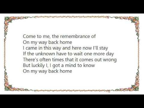 Band Of Horses On My Way Back Home Lyrics Youtube