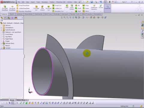 Solidworks Screw Conveyor To Sheet Metal Youtube