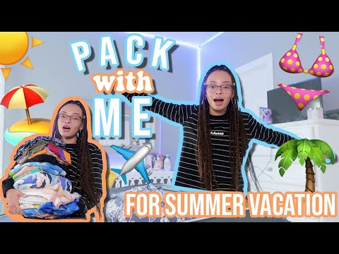 Pack With Me for SUMMER VACATION   How to Pack Like A Pro   aliyah simone