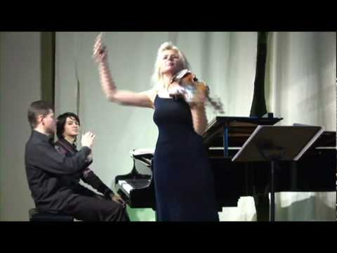 Ravel Violin Sonata (3rd movement Perpetuum mobile) by Clara Cernat and Thierry Huillet live