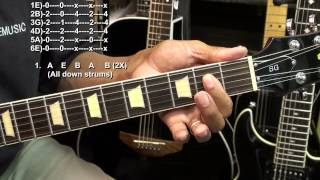 AC/DC BACK IN BLACK Electric Guitar How To Play Lesson Tutorial EASY EricBlackmonMusicHD