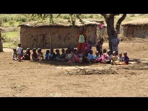 """Masai Village"", known as a ""Manyatta"", Masai Mara, KENYA"