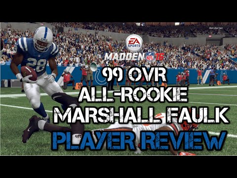99 OVR All-Rookie Marshall Faulk | Player Review | Madden 16 Ultimate Team Gameplay | MUT 16