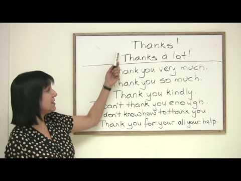 Polite English - 8 ways to say Thank You Mp3