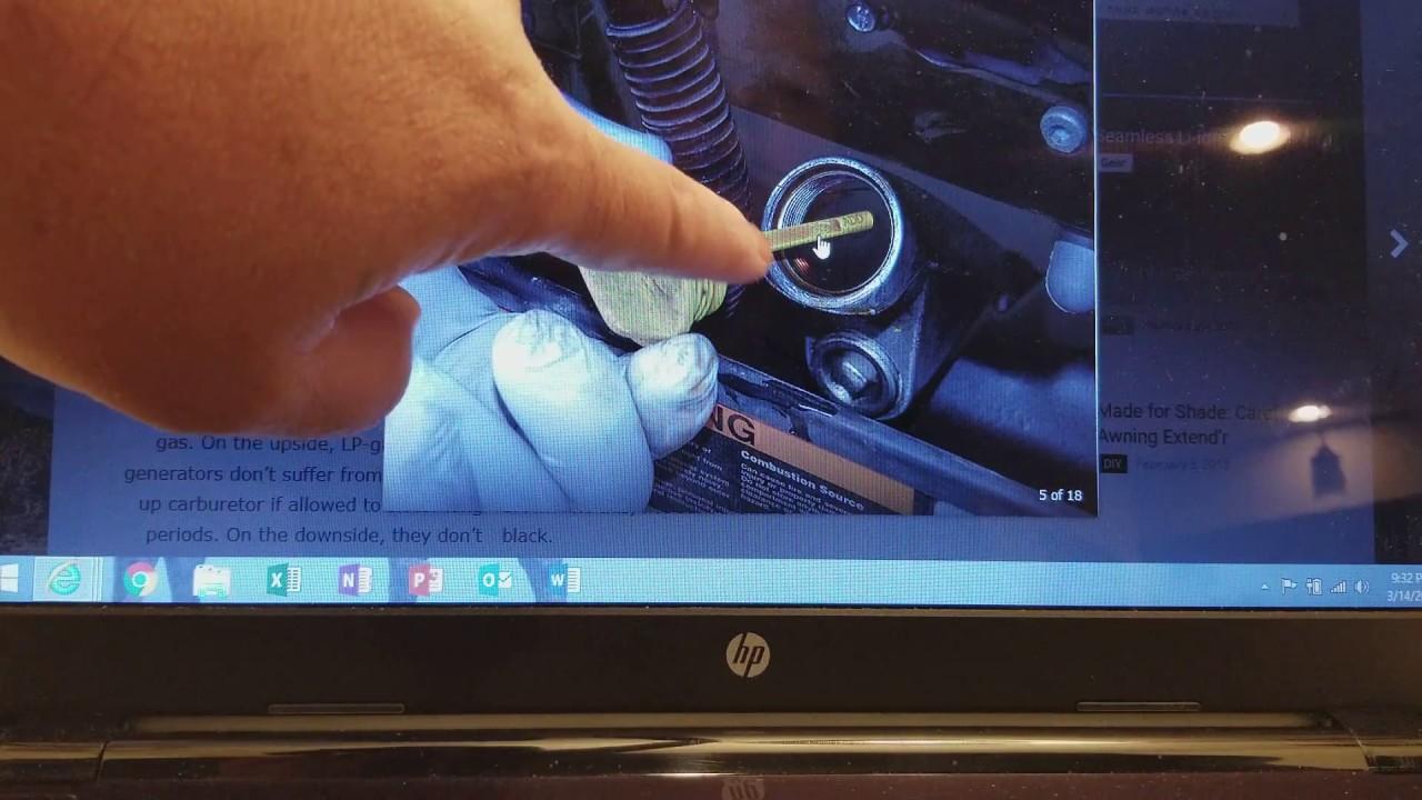 Onan rv generator hidden defect, runs fine/stops