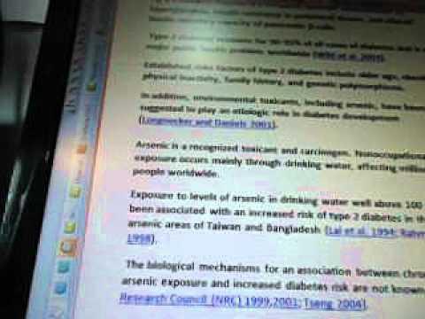Line 22f1e1b Arsenic Exposure Type 2 Diabetes WOW SETI