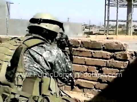 Operation Iraqi Freedom Iraq War U.S. Marines and Iraqi soldiers Battle insurgents archival footage