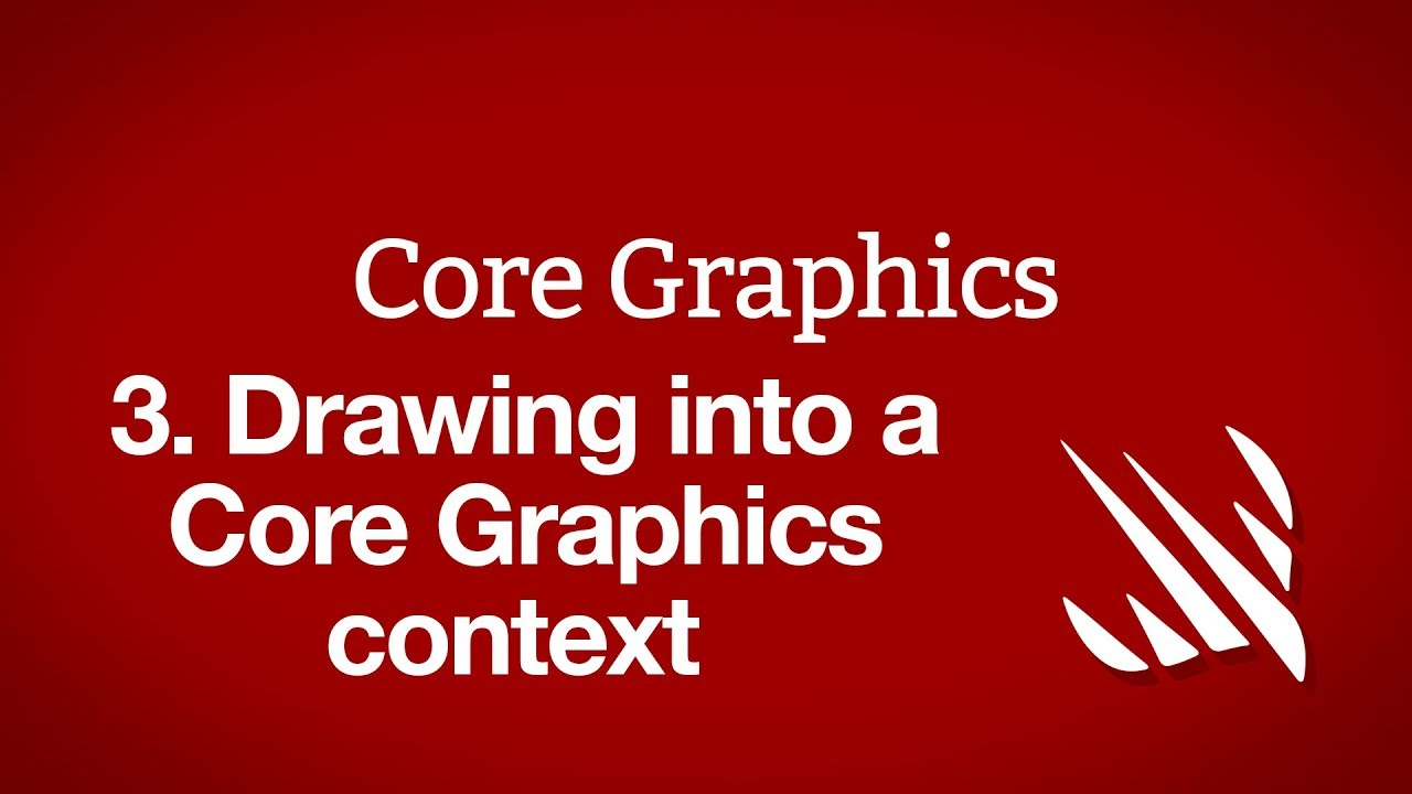 Drawing into a Core Graphics context with
