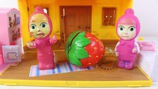 Maşa Nasıl Çileğe Dönüştü Maşa ve Kardeşi Çizgi Film Eğitici Çocuk Videoları