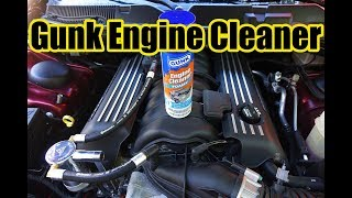 Gunk Foamy Engine Cleaner Cleaning The 392 HEMI Scat Pack
