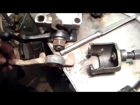 Как снять сошку с рулевого редуктора