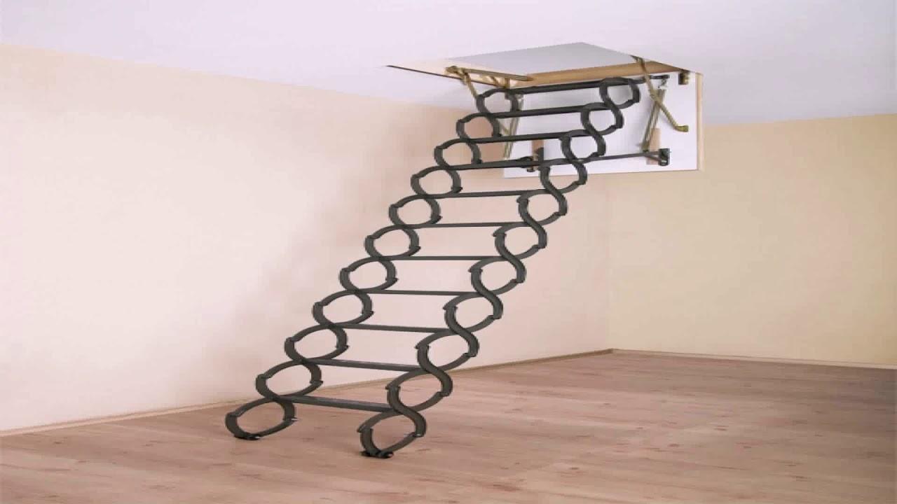 Loft Ladder Diy Installation (see description) - YouTube