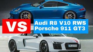 New Audi R8 V10 RWS vs. Porsche 911 GT3 Touring : Auto-Showdown