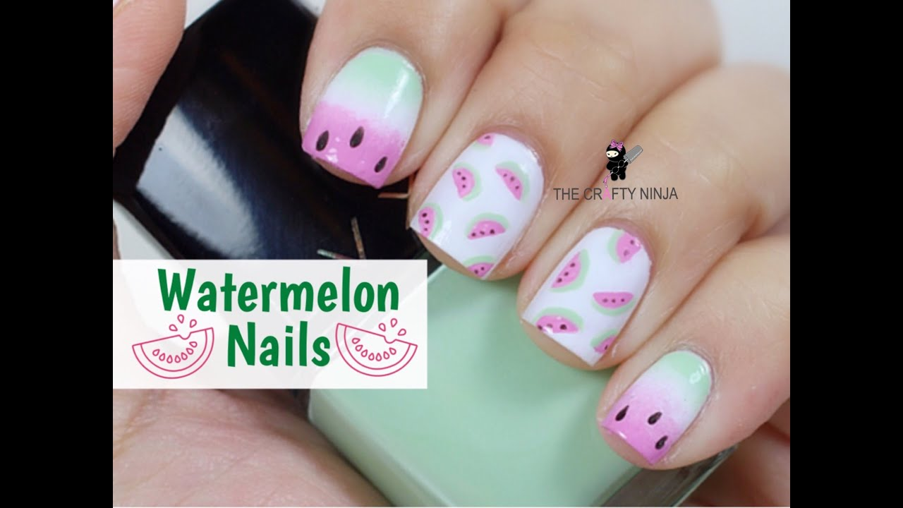 Watermelon nail art tutorial by the crafty ninja youtube watermelon nail art tutorial by the crafty ninja prinsesfo Images