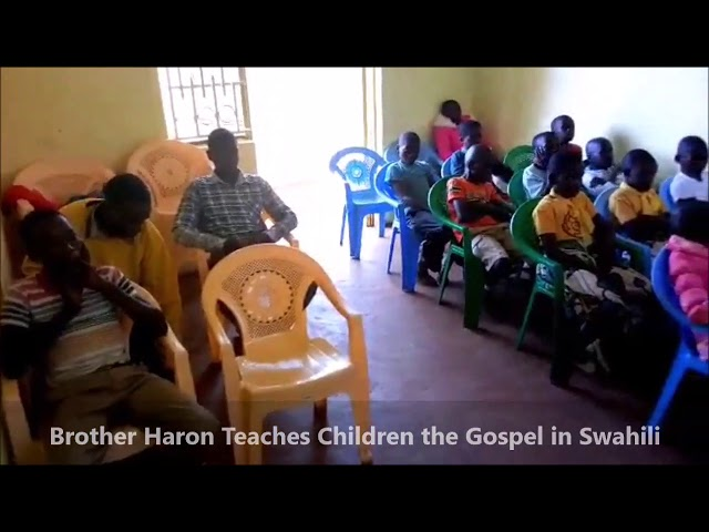 Brother Haron Teaches Children to Obey Jesus in English & Swahili