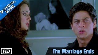the marriage ends emotional scene kabhi alvida naa kehna shahrukh khan preity zinta