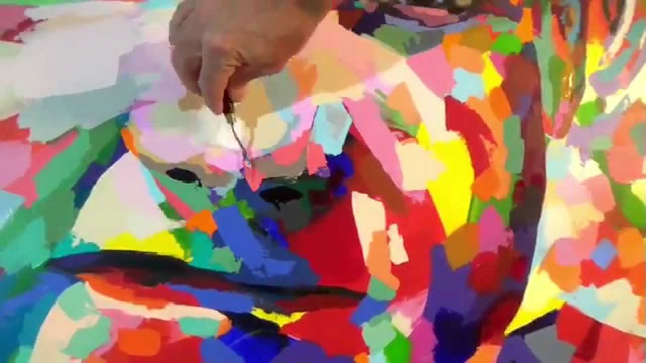 abstract portrait painting youtube