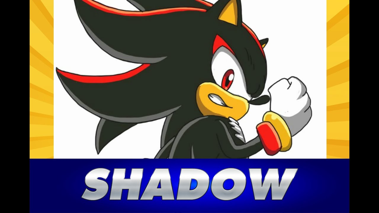Cmo dibujar a SHADOW de Sonic  how to draw Shadow from Sonic