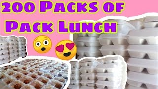 200 pieces of Pack Lunch|Syang Vlog