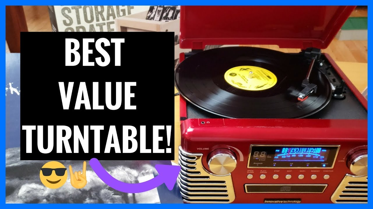 Retro Turntable | Best Value | Innovative Technology 50's Record Player |  Unboxing | Demo | Review
