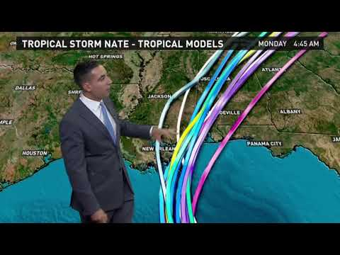 Tropical Storm Nate Outlook for Friday, October 6 2017