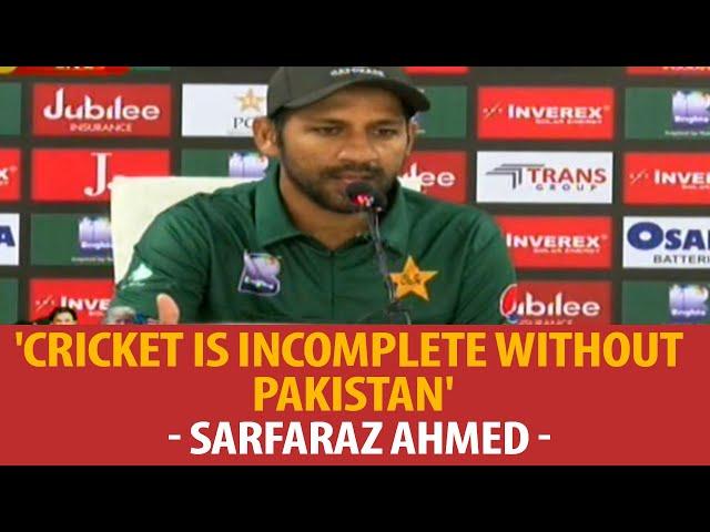 'Cricket is incomplete without Pakistan' - Sarfaraz Ahmed #ARYSports