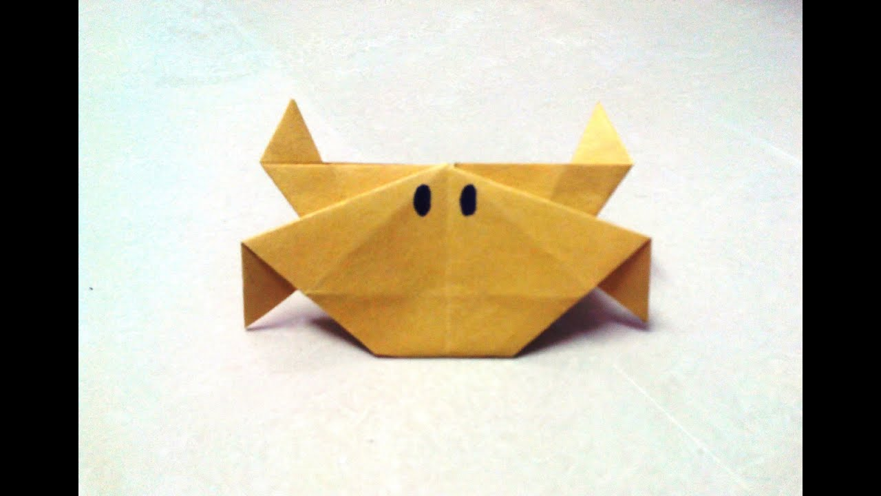 how to make an origami crab youtube
