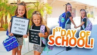FIRST DAY AT NEW SCHOOL ✏️ Liv &amp Pey Huge Announcement
